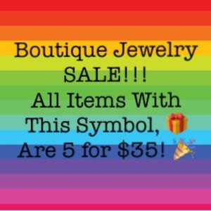 🎁 5 for $35 Boutique Jewelry Sale!